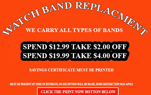 watch band replacment